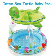 Intex Baby Pool / Child Pool / Swimming Pool with Sun Shade Inflatable Sea Turtle