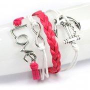 Bracelet, Vintage Style, Infinity Love Anchor, 18cm Long + Extender Chain (954-040)