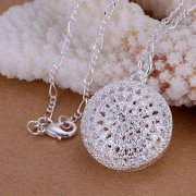 missyap 925 Silver Round Package Pendant Chains Necklace P136