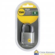 Yale Y120/40/125/1 Silver Series Outdoor Brass / Satin Padlock (Baron Shackle) 40mm