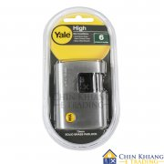 Yale Y124/70/115/1 Brass Rectangular Padlock with Boron Steel Shackle 70mm