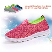 Lightweight Sport Fashion Casual Slip On Soft Mesh Fabric Shoes 6363