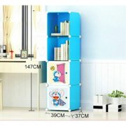 Cabinet 4 Cubes Doraemon bookshelf DIY Storage Box-D1