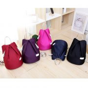 3 pcs Set Women Nylon Oxford faux leather Backpack Travel Back Pack Colourful School Bag Girl
