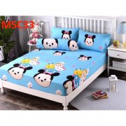 Cartoon Single , Queen & KING size fitted bedsheet (MSC-MQC-MKC)