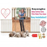 [SayangKu] Type A BP009 Premium Baby Safety Gate Safety Door / Pets Walk Thru Gate With Free Gift!!