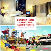 2D1N HOTEL GRANADA JOHOR BAHRU (4 STARS) + FREE BREAKFAST + 2 LEGOLAND 1 DAY COMBO TICKETS