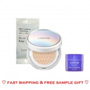 NEW Laneige BB Cushion Whitening (15g + a refill 15g) with Gift Water Sleeping Mask 15ml