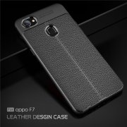 Vivo F7 Ultra Thin Luxury PU Leather Soft Shockproof Case Cover