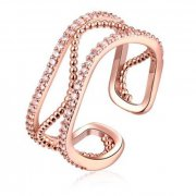 WOMEN A GOLD PLATED KOREAN STYLE NEW DESIGN FINGER RING FOR LADY (ROSE GOLD)