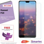 Huawei P20 HD Tempered Glass Protector + 9H Hardness (HD Clear)