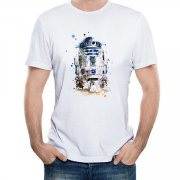 R2-D2 Unisex Round Neck Short Sleeve T-Shirt