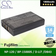 Cameron Sino Camera Battery NP120FU Lawmate DV500 / PV500 Battery 1800mah (Original)