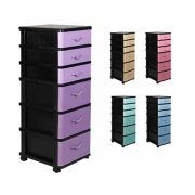 6 Tiers Drawer Cabinet With Wheel 3B3S Plastic Drawer cabinet