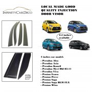 Air Press Injection Door Visor Wind Deflector for Perodua and Proton Car Model (Local Made)