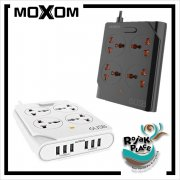 MOXOM KH-63 Anti Static Power Strip Extension 4 Universal Sockets 6 USB Ports
