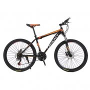 Mountain Bike 26 Inch 21 Speed Double Disc Brake Integrated Wheel Bicycle