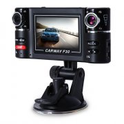 F30 2.7 INCH CAR DVR CAMERA VIDEO DRIVING RECORDER HD DUAL LENS DASHBOARD VEHICLE CAMCORDER G-SENSOR