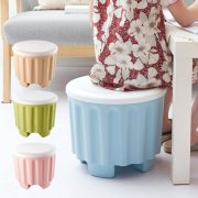 Round Storage Stool Multi-function Household Large Capacity Storage Stool