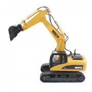 HUINA 1550 1:14 2.4GHZ 15CH RC ALLOY EXCAVATOR RTR WITH INDEPENDENT ARMS PROGRAMMING AUTO DEMONSTRATION FUNCTION (YELLOW)