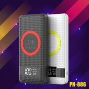 Pineng 3 Input Super Slim 10000mAh Wireless Power Bank PN 886