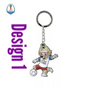 Russia World Cup PVC Double-sided Mascot Key chain