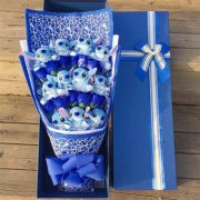 11 stitch 11pcs soap flower bouquet with gift box