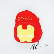 Angel Baby Ironman 3D Kid Backpack (S-Red)