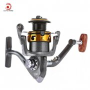 LIE YU WANG 13 + 1 Bearings Double Color Spool Fishing Reel 5.2 : 1 (GRAY)