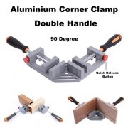 90 Degree Aluminium Double Handle Corner Clamp Quick Release Jaw Tool 2372.1