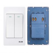 DEJOB Stylish Elegant Design 2 Gang 1 Way Wall Socket One Gang One Way On Off Switch 2390.1