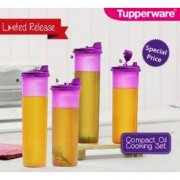 TUPPERWARE COMPACT COOKING OIL DISPENSER 890ML AND 1.1L SET
