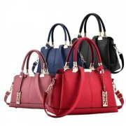 WOMEN PU LEATHER TOTE BAG WITH LONG STRAP JN834