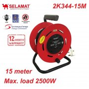 Selamat 15m x 4 Gang Heavy Duty Industrial Cable Reel