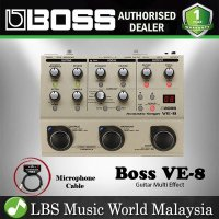 Boss VE-8 Acoustic Singer Guitar Vocal Processor Stompbox Mic Preamp with Microphone Cable (VE8 VE 8