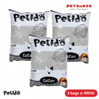 PETIDO CatCare Litter 10L - Apple Value Pack (3 bags)