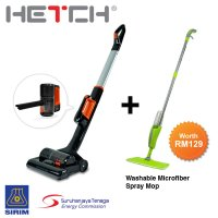 HETCH Cordless Vacuum Cleaner CVC-1407-HC (Bundle with Washable Microfiber Spray Mop)