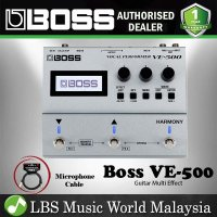 Boss VE-500 Vocal Performer with Stereo XLR Outputs Microphone Cable (VE500 VE 500)