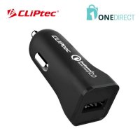 CLiPtec 3.0A Quick Charge Car Charger-GZU511 (Black)