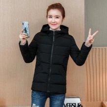 Women Cotton Padded Winter Fashion Plus Size Hoodie Jacket