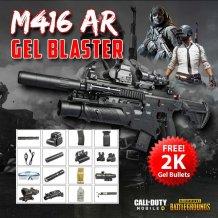 (FJS) HK-416 HK416D M416 M4 28m Meter Single Auto Water Gel Blaster Premium ABS Adult Kid Toy (Full
