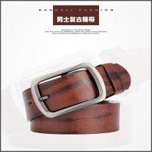 Men's Word Buckle Retro Belt Simulation Leather Casual Pin Buckle Belt