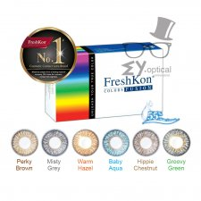FreshKon Color Fusion Dazzlers Color Contact Lens -Monthly