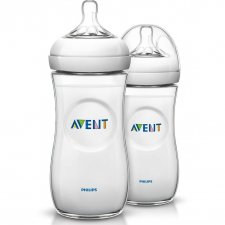 Philips AVENT BPA Free Natural Polypropylene Bottle 11oz / 330ml Twin Pack
