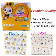 Beeson 8pcs Baby Napkin Durable Soft and Comfortable Premium Printed Design (76cm x 76cm)