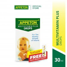 APPETON Multivitamin Plus Drop (30ml) Infant from 0-12month for Healthy Growth