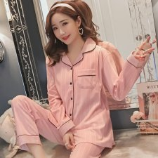 Women Cotton Stripe Nursing Breast Feeding Pajamas Maternity Sleepwear