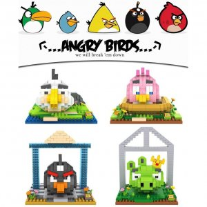 Set of 4 Cute Angry Bird/Birds Loz Nano/Diamond Block Figure/Figures (Set B) [Birthday Gift/Present]