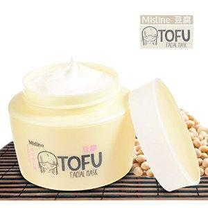 MISTINE Japan Tofu Facial Mask For Young Soft Skin Vitamin E Strawberry Rice