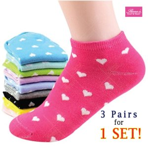 3 Pairs Fashion Womens Sport Casual Cute Ankle High Low Cut Cotton Socks